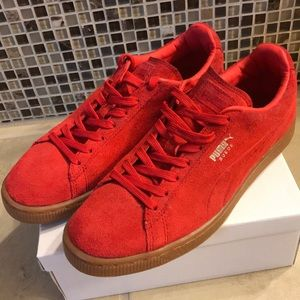 Women's Red Puma Sneakers